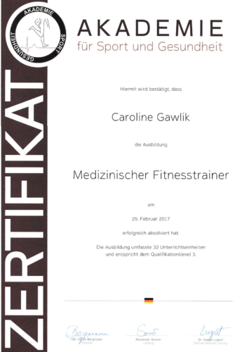 Betten Ranck Caroline Gawlik Medizinischer Fitnesstrainer
